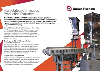 eSheet: High-Output Continuous Production Extruders