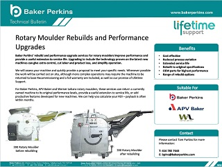 Technical Bulletin: Rotary Moulder Rebuilds and Upgrades